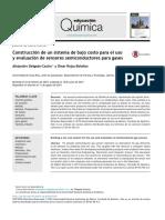 Construcción de un sistema de bajo costo para el uso y evaluación de sensores semiconductores para gases