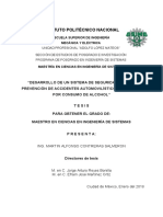 DESARROLLO DE UN SISTEMA DE SEGURIDAD PARA LA PREVENCION DE ACCIENTES AUTOMOVILISTICOS(completa)