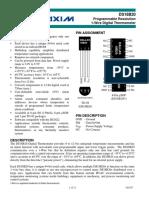Datasheet sensor DS18B20