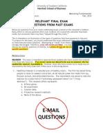 Past Final Questions F10
