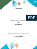 Matriz para el desarrollo de la fase 3-2