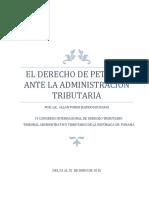 Allan Poher Barrios - El Derecho de Petición ante la Administración Tributaria