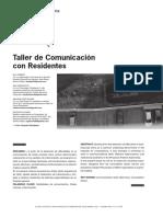 Taller de comunicación con residentes