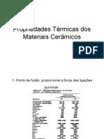 Propriedades Termicas dos Materiais Ceramicos