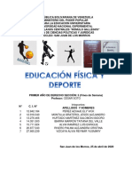 trabajo Educación Física y Deporte SEGUNDO LAPSO
