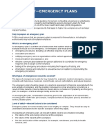 Emergency Plans Fact Sheet