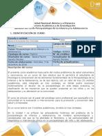 Syllabus del curso de Psicopatologia de la Infancia y de la adolescencia