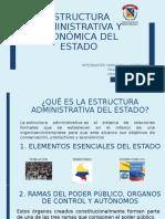 Estructura administrativa y económica del estado