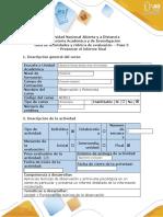 Guía - Paso 5 - Presentar El Informe Final