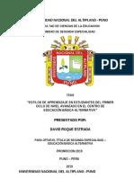FORMULACION DE TRABAJO DE INVESTIGACION - TESIS