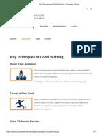 Key Principles of Good Writing – Princeton Writes