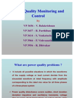 Power Quality Monitoring and Control