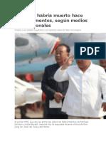 Kim Jong habría muerto hace unos momentos, según medios internacionales