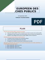 PPT Droit européen des marchés publics Séance du matin