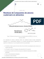 Residuos de compuestos de amonio cuaternario en alimentos - Blog sobre seguridad alimentaria