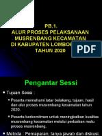 PB-1. Pelaksanaan Musrenbang Kecamatan