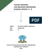 Meringkas Modul 6-8 Pedidikan Bahasa Indonesia di SD