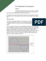 Fourier Transform for Dummies