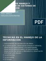 TECNICAS DE MANEJO Y OPERACIÓN DE SISTEMAS DE
