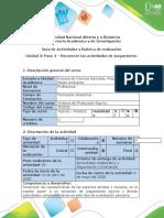 Guía de actividades y rúbrica de evaluación - Paso 4 – Reconocer las actividades de juzgamiento