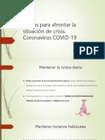 Pautas de afrontamiento Covid19