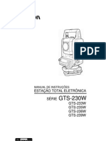 Manual da Topcon GTS230W
