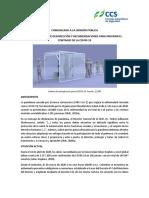 Comunicado SCHO-CCS uso de cabinas de desinfección