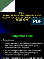 PB-3. Penyelarasan Program Prioritas-DU RKPDesa-Renja