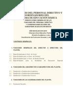 FUNCIONES DEL PERSONAL DIRECTIVO Y DEMÁS COORDINADORES DEL SUBSISTEMA DE EDUCACIÓN BÁSICA