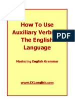 How To Use Auxiliary Verbs In the English Language