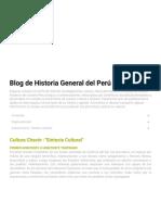Blog de Historia General del Perú_ Cultura Chavín -_Síntesis Cultural_