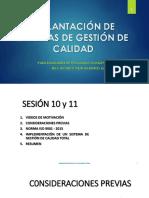 Implementación ISO 9001- 2015