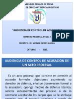 AUDIENCIA CONTROL DE ACUSACION-DPP