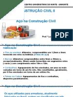 AULA 8 - CONSTRUÇÃO CIVIL 2 - AÇOS NA CONSTRUÇÃO CIVIL