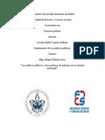 Políticas públicas, Plan municipal de desarrollo y servicios públicos municipales.