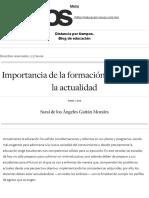 Importancia de la formación docente en la actualidad _ Distancia por tiempos