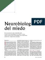 Neurobiología del miedo