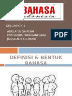 presentasi baahsa indonesia