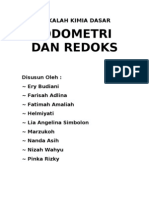 Iodometri Dan Redoks - Kelompok B