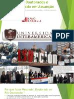 1 Informações sobre Mestrados e Doutorados da Universidad Interamericana KAWO 2019
