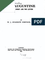 St. Augustine - W. J. Sparrow Simpson
