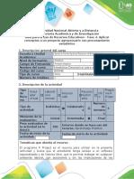 Guía para uso de recursos educativos - Fase 4. Aplicar conceptos a un proyecto agropecuario con procesamiento estadístico