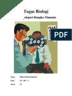 Tugas Biologi - Gambar Rangka Manusia