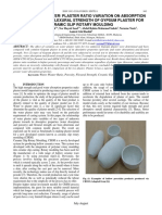 Effect of Water Plaster ratio flexural (2017)