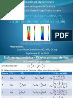 10. Diseño de reactores ideales - Sistemas de densidad variable_2019-II