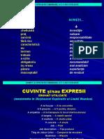 CUVINTE  EXPRESII recomandabil A FI - A NU FI UTILIZATE.ppt
