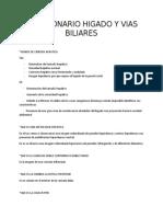 CUESTIONARIO  HIGADO Y VIAS BILIARES