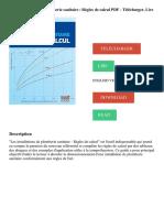 Les installations de plomberie sanitaire _ Règles de calcul PDF - Télécharger, Lire