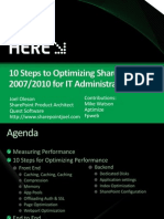 sharepointperformanceoptimizationin10steps-itjoelfinal-100311165743-phpapp02