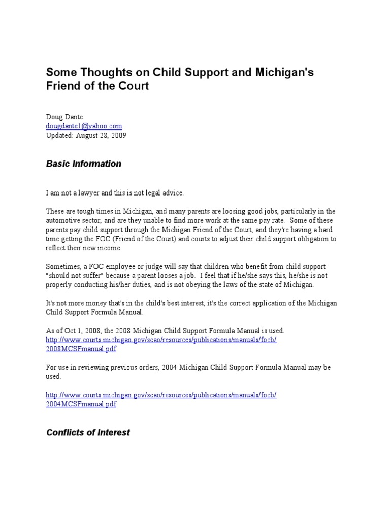 voluntary child support letter